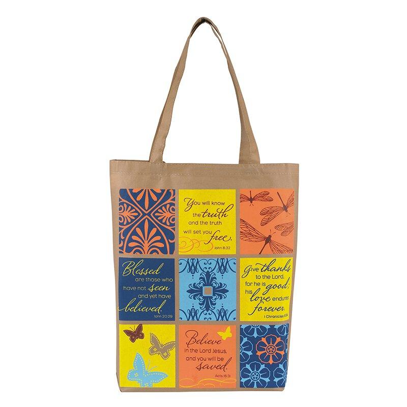 Patchwork Promises Tote Bag - 12/pk