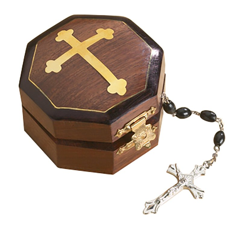Budded Cross Rosary Box - 6/pk