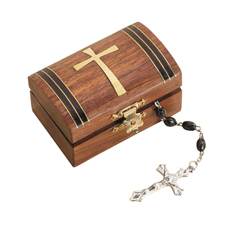 Tapered Cross Rosary Box - 6/pk