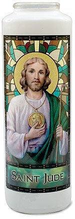 Will & Baumer® Stained Glass Gleamlights® - St Jude 12/pk