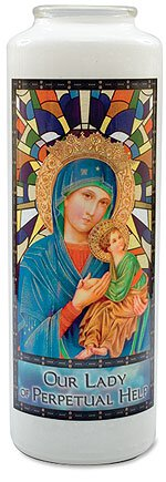 Will & Baumer® Stained Glass Gleamlights® - Our Lady Of Perpetual Help 12/pk