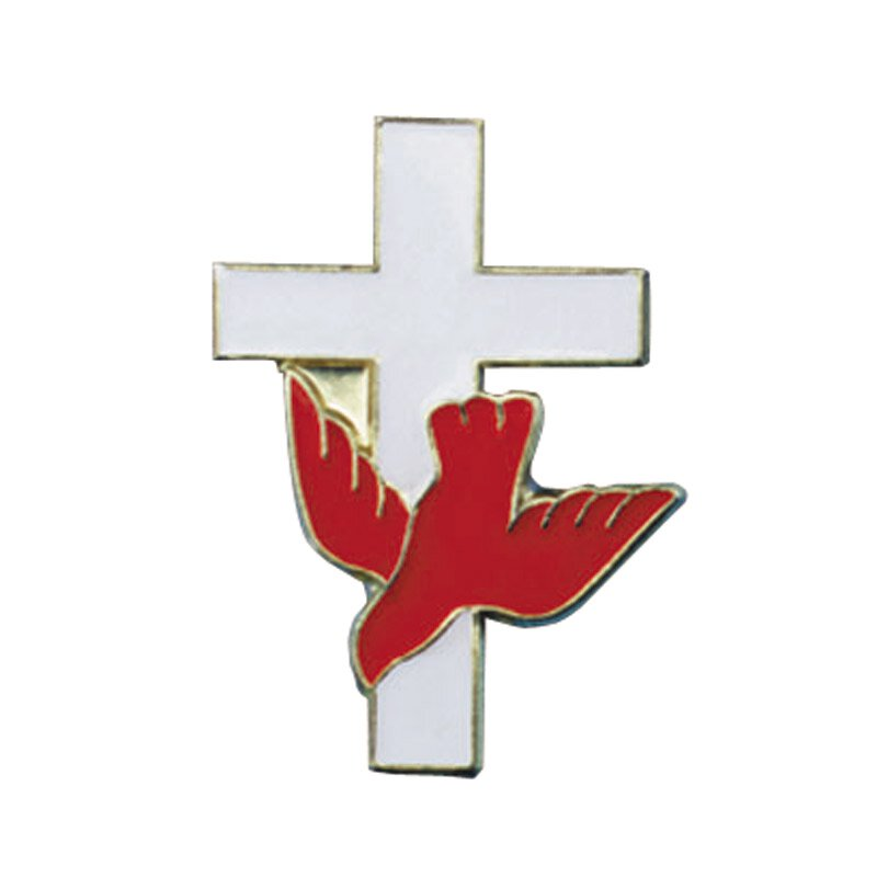 Cross with Dove Lapel Pin - 25/pk