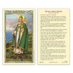 St. Patrick Laminated Holy Card - 25/pk