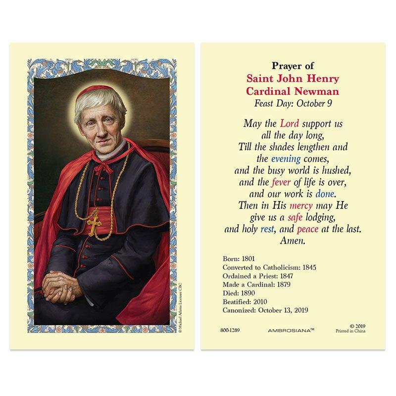 St. John Henry Cardinal Newman Laminated Holy Card - 25/pk