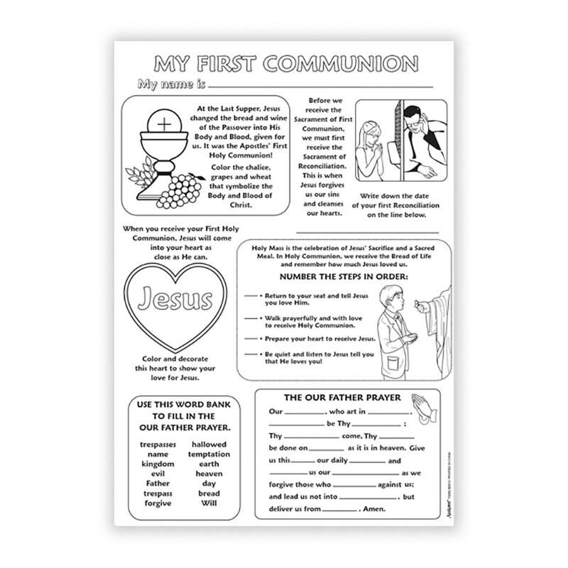 Color Your Own Poster - My First Communion - 50/pk