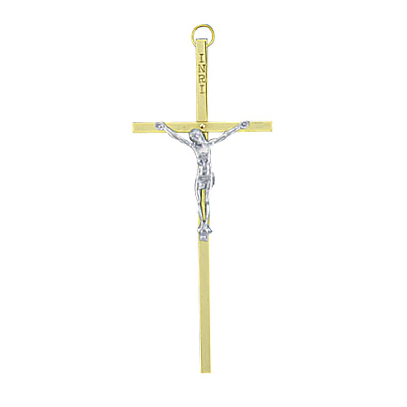 "6"" Brass Crucifix - 3/pk"