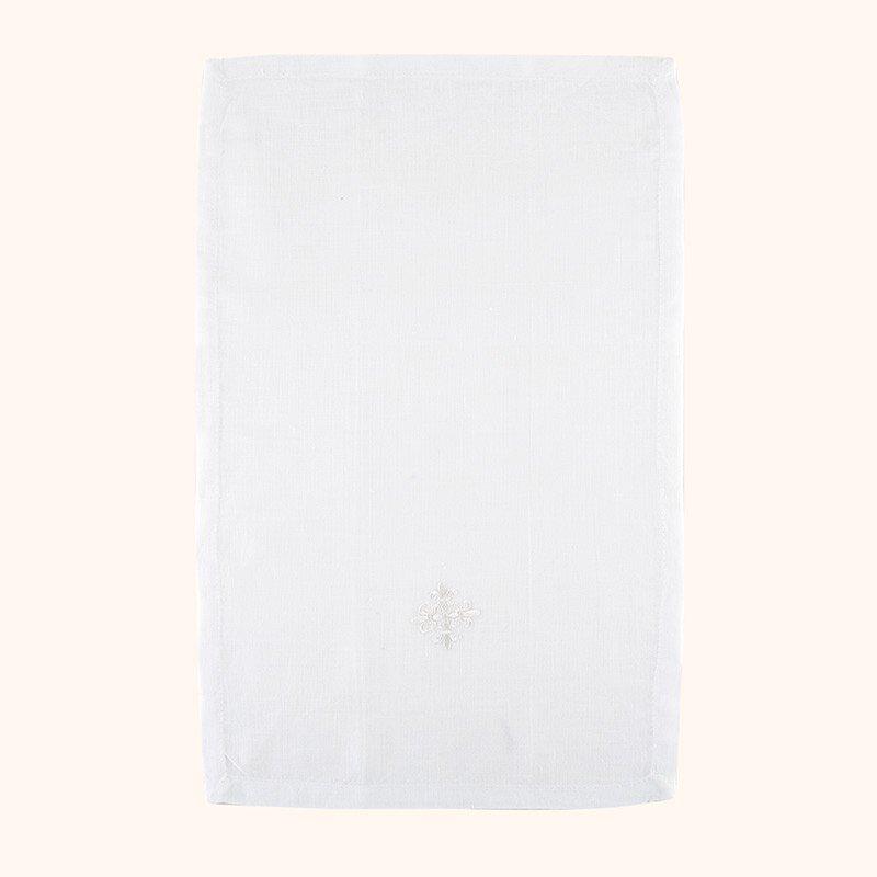 100% Linen White Fleur-de-Lis Cross Purificator - 3/pk