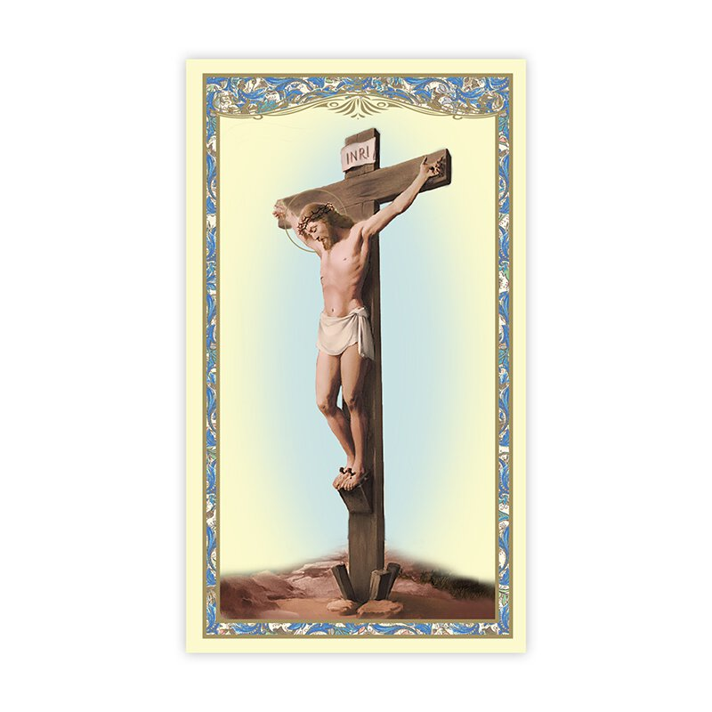 Stations of the Cross (Crucifixion) Holy Card - 100/pk