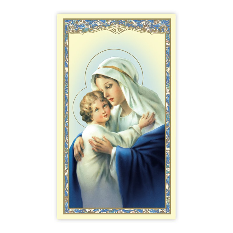 Madonna and Child Holy Card - 100/pk