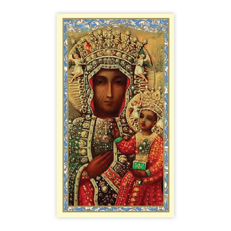Our Lady of Czestochowa Holy Card - 100/pk