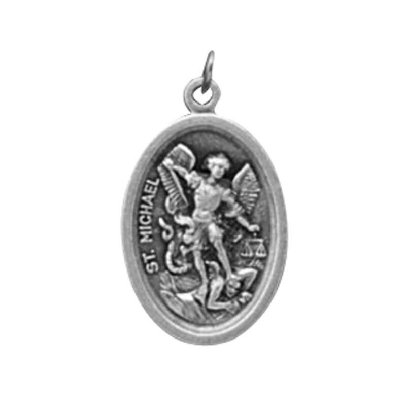 St. Michael/Guardian Angel Oxidized Medal - 50/pk