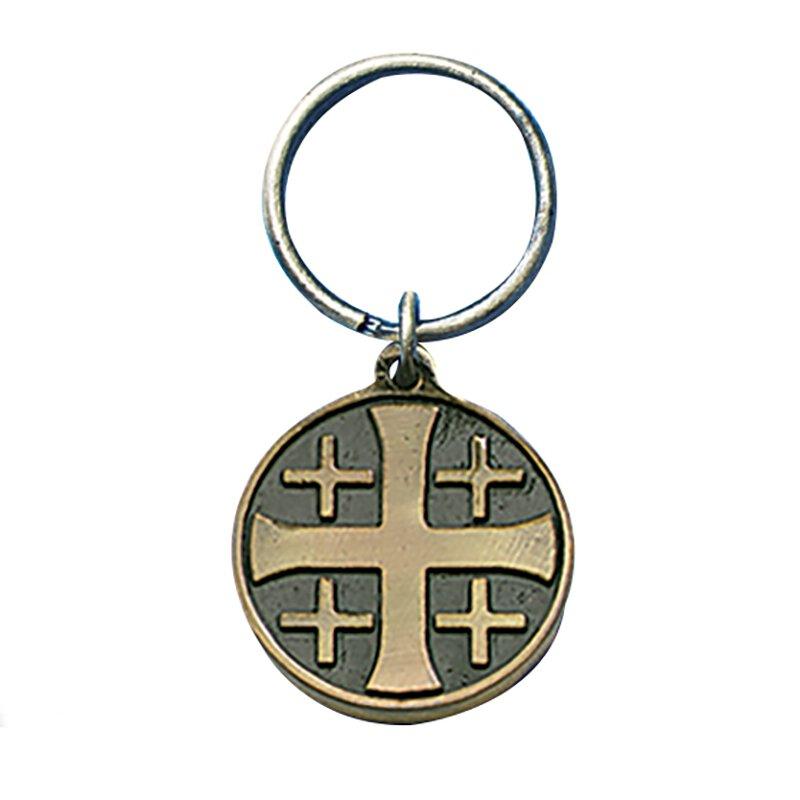 Jerusalem Cross/RCIA Keyring - 6/pk