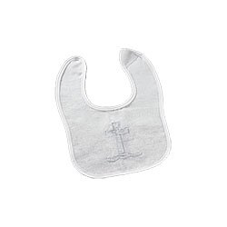 Baptismal Bib with Cross - 12/pk