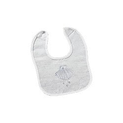 Baptismal Bib with Shell - 12/pk