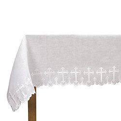 Two-Sided Scallop-Edged Cross Altar Frontal