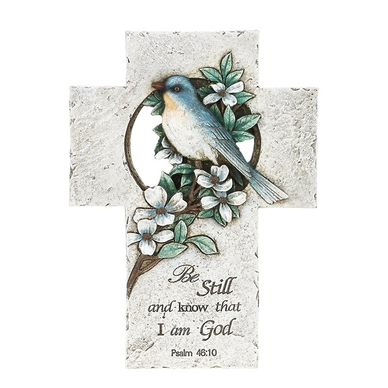 Blue Bird Cross with Verse