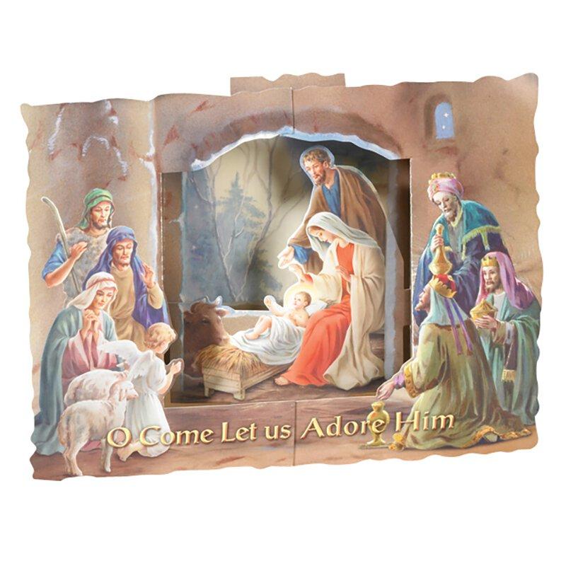 3-D Standing Nativity Scene - 50/pk