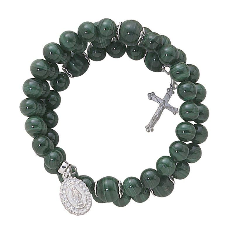 Creed® Wrap Around Bracelets 5 Decade Rosary 6MM Faux Semi Precious