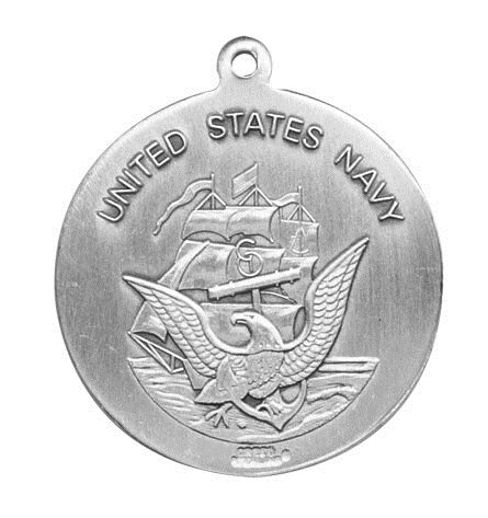 Sterling Silver St. Christopher Navy Medal