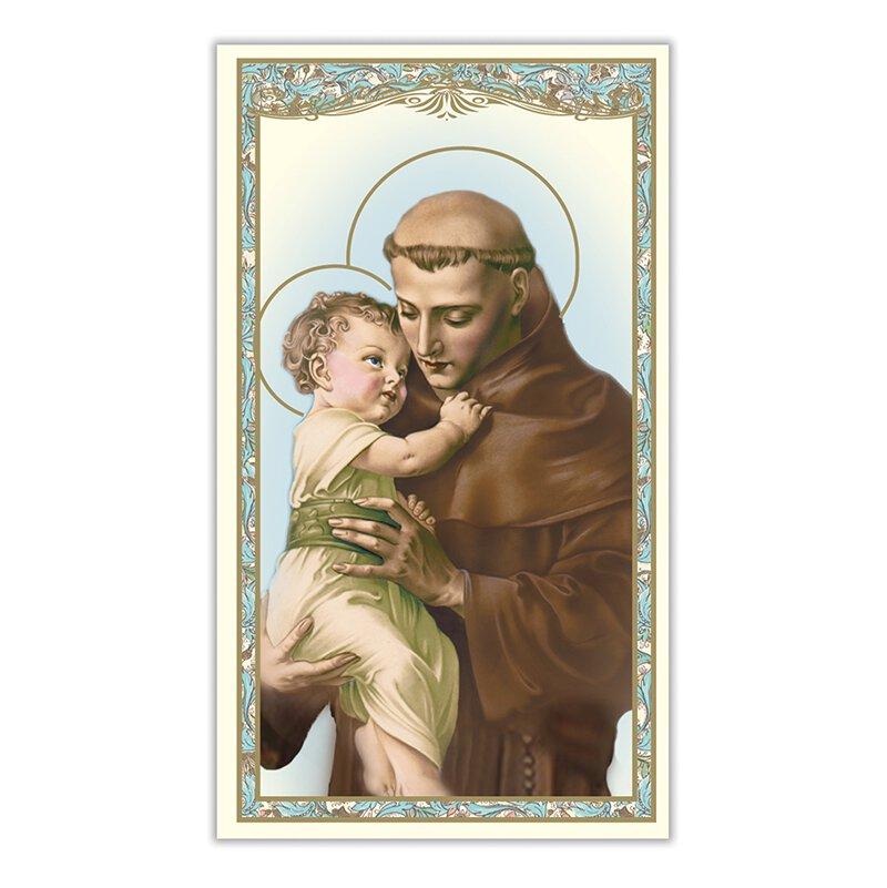 St. Anthony Laminated Holy Card - 25/pk