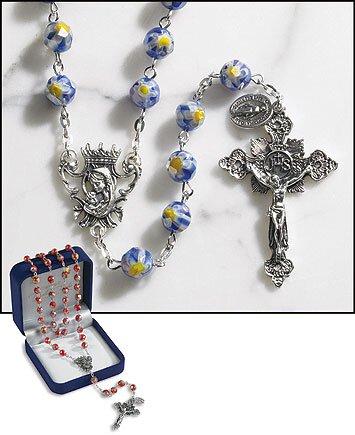 Sapphire Murano Rosary