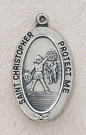 Girl's Cheerleading St Christopher Sports Medal
