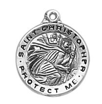 Creed® Sterling St. Christopher Medal