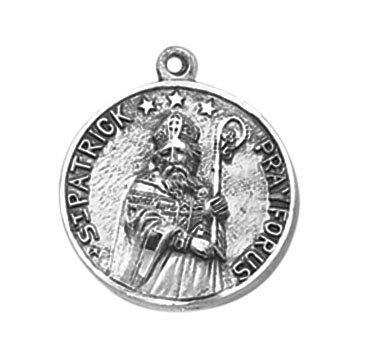 Sterling St. Patrick Patron Saint Medal