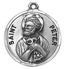 Creed® Sterling Patron Saint Peter Medal