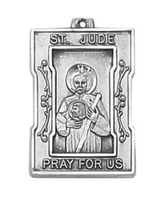 Sterling St. Jude Patron Saint Medal