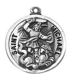 Sterling Patron Saint Michael Medal