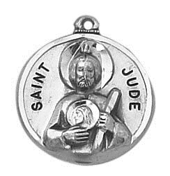 Sterling Patron Saint Jude Medal