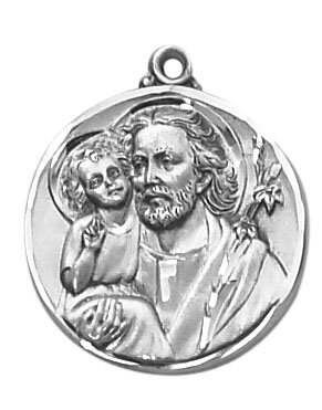 Sterling St. Joseph the Worker Patron Saint Medal