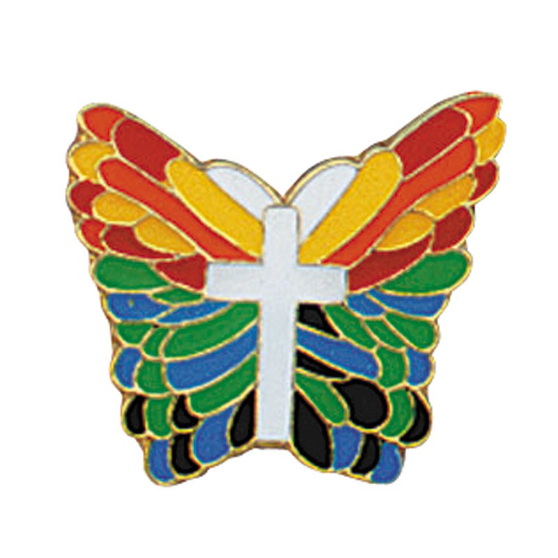 De Colores Butterfly Lapel Pin - 25/pk