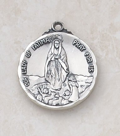 Sterling Our Lady of Fatima Special Devotion Medal