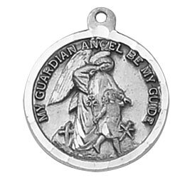 Sterling Guardian Angel Special Devotion Medal