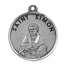 Sterling St. Simon Special Devotion Medal