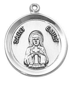 Sterling Patron Saint Emily Medal