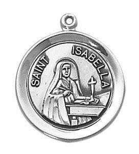 Sterling Patron Saint Isabella Medal