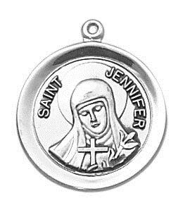 Sterling Patron Saint Jennifer Medal