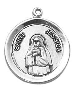 Sterling Patron Saint Jessica Medal