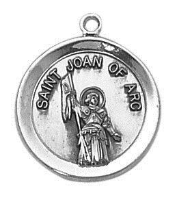Sterling Patron Saint Joan of Arc Medal