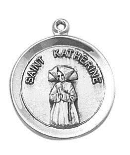 Sterling Patron Saint Katherine Medal