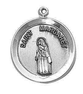 Sterling Patron Saint Margaret Medal