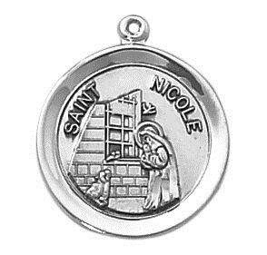 Sterling Patron Saint Nicole Medal