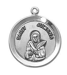 Sterling Patron Saint Juliana Medal