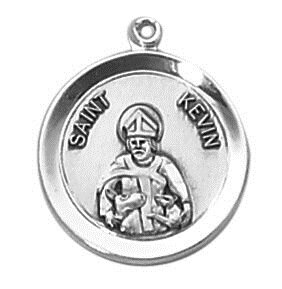Sterling Patron Saint Kevin Medal