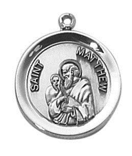 Sterling Patron Saint Matthew Medal