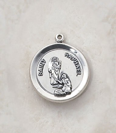 Sterling Patron Saint Raphael Medal