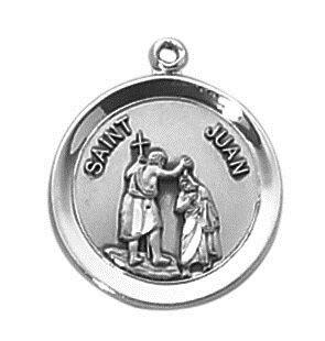 Sterling Patron Saint Juan Medal
